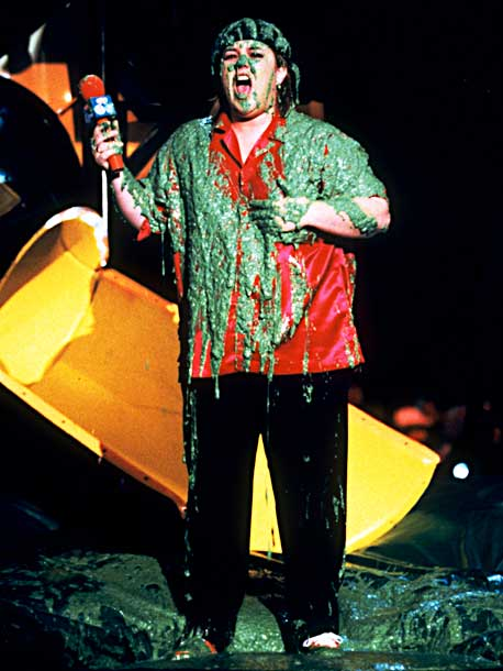 Rosie O'Donnell | O'Donnell took it in stride when her friend Madonna (via videophone) set her up for a good sliming.