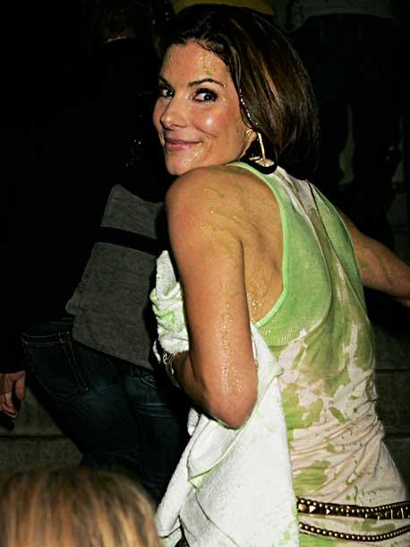 Sandra Bullock | America's sweetheart still looked pretty cute in her green goo.