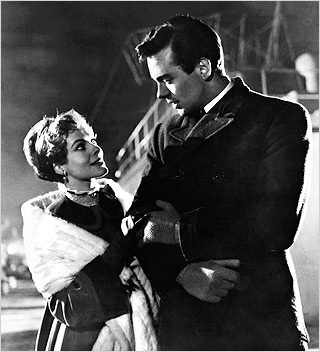 TITANIC DISASTER Jill Dixon and Ronald Allen in A Night to Remember