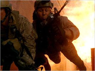 BOOM Navy SEALS are propelled in the air from explosion at cartel in Act of Valor