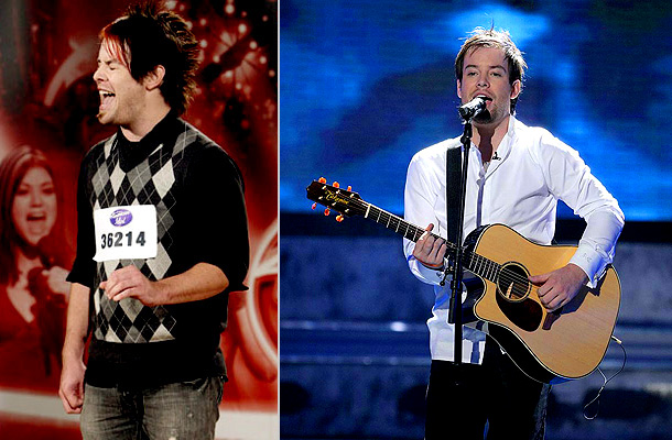 American Idol | Sure, David Cook totally rocked Bon Jovi's ''Living on a Prayer'' in his audition, but it was hard to concentrate on his singing with what…