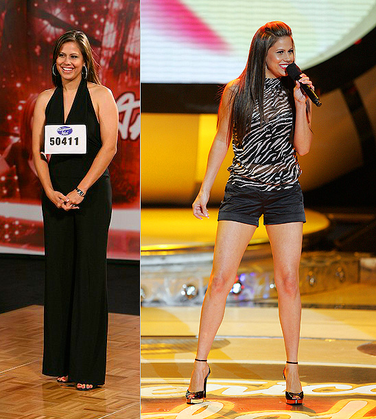 American Idol | Haley Scarnato favored long glamorous dresses when she first strutted the Idol stage, but after she hit the bottom 3, she ditched the skirts for…
