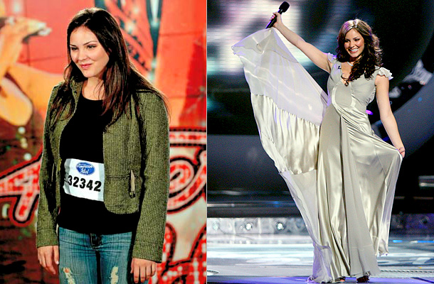 American Idol | Ill-fitting clothes and thin, stringy looking hair mattered not when Katharine McPhee sang a soulful and sweet ''God Bless the Child'' for the judges at…