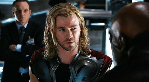 The Avengers | ''What are you asking me to do?'' This is what Chris Hemsworth's Thor is asking Samuel L. Jackson's Nick Fury, apparently after being beaten into…