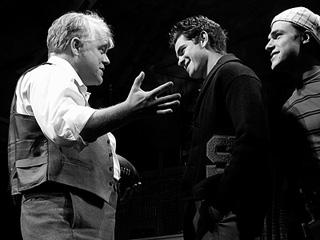 DEATH OF A SALESMAN Philip Seymour Hoffman, Andrew Garfield, and Finn Wittrock