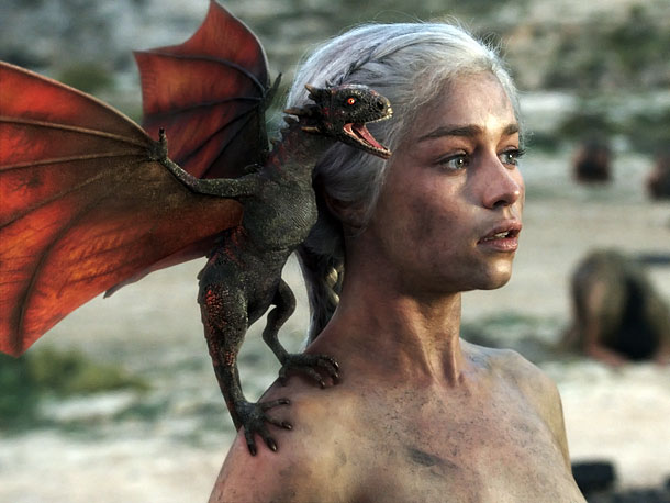Emilia Clarke, Game of Thrones | Fearsome Rating: 3 The spawn of Daenerys Targaryen lose points for their diminutive stature. But they'll grow. Oh, they'll grow.