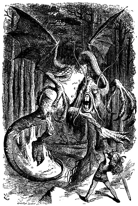 Fearsome Rating: 5 ''Jabberwocky'' is a nonsense-on-purpose poem, but the portrayal of the verse's monster — ''the jaws that bite, the claws that catch... with…