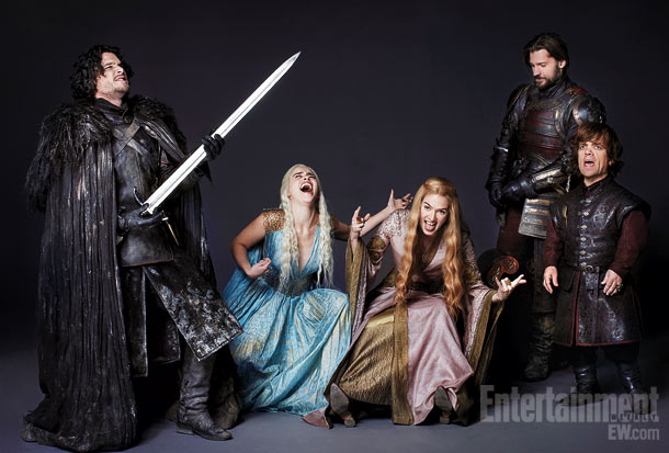 Game of Thrones stars Kit Harington, Emilia Clarke, Lena Headey, Nikolaj Coster-Waldau, and Peter Dinklage