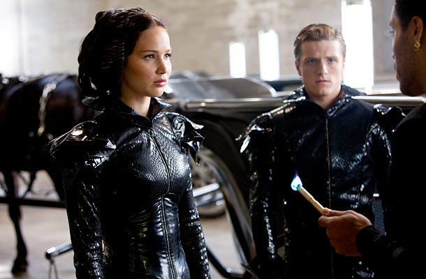 The Hunger Games, Jennifer Lawrence, ... | One of the bigger challenges was coming up with what Katniss (Jennifer Lawrence) and Peeta (Josh Hutcherson) would wear during their debut parade in the…