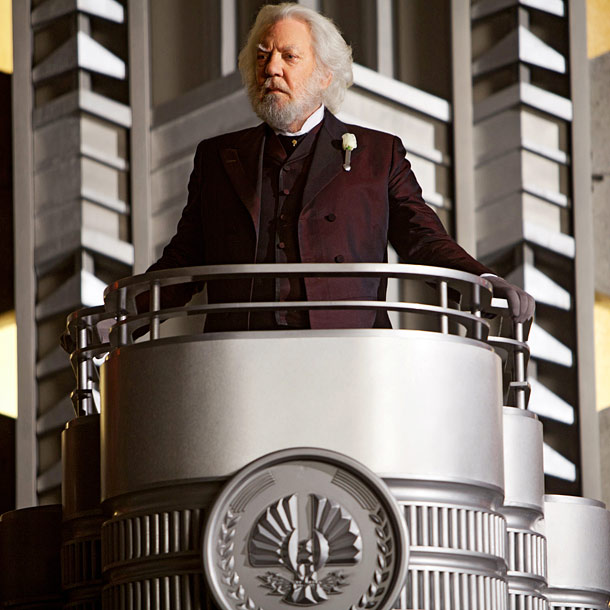 Donald Sutherland, The Hunger Games | Although Snow mostly lurks around the outskirts of the first volume of Games , he is unquestionably the series' main puppet master. The ruler of…