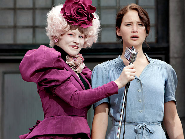For the outlandish Effie Trinket (Elizabeth Banks), the first citizen of the garishly wealthy Capitol that we see, Makovsky says Ross was a bit more…