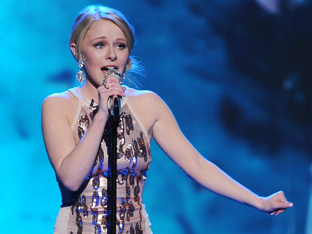 American Idol   This tiny bright-eyed woodland creature powered it up more than expected on Christina Aguilera's ''Reflection.'' Little girl, big voice? ''She's gonna be one of our…