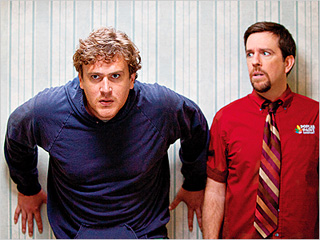 GAME CHANGE Jason Segal plays a slacker still living with his mom and Ed Helms plays his brother in Jeff, Who Lives At Home