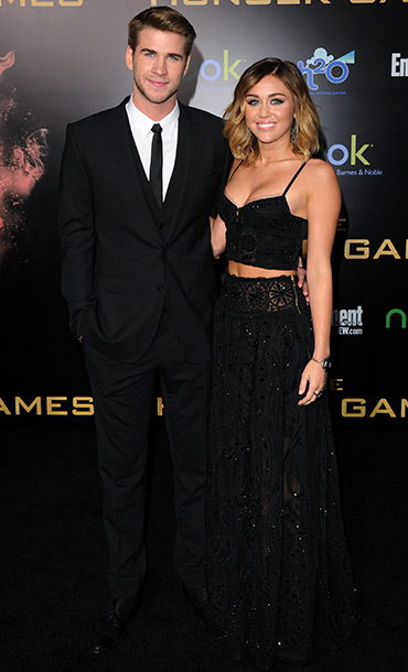 Liam Hemsworth and singer Miley Cyrus