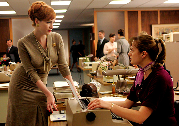Mad Men, Christina Hendricks | Look at the phrase ''office manager.'' Now, we tend to focus on the second word — ''manager'' — because ''managing'' is what a manager does.…