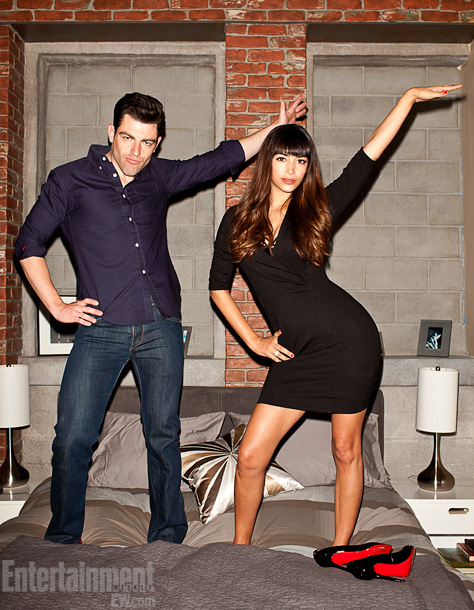 Max Greenfield (Schmidt) and Hannah Simone (Cece)