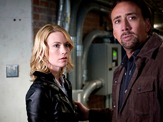 CAUGHT IN THE NET Nicholas Cage and January Jones star in the action thriller, Seeking Justice