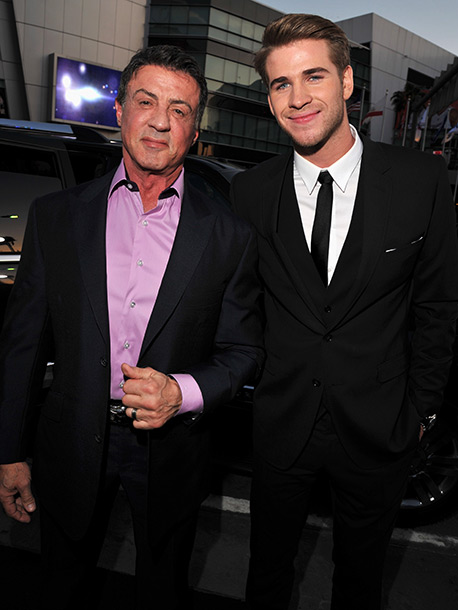 Sylvester Stallone and Liam Hemsworth