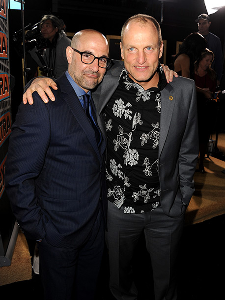 Stanley Tucci and Woody Harrelson