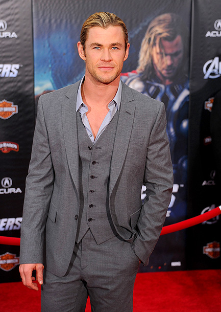 CHRIS HEMSWORTH ''Oh geez. Scarlett would kill us all I think. She's lethal. We had the same trainer and she put us all to shame…
