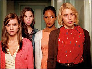 WAKE UP Carrie MacLemore, Analeigh Tipton, Megalyn Echikunwoke and Greta Gerwig in Damsels in Distress