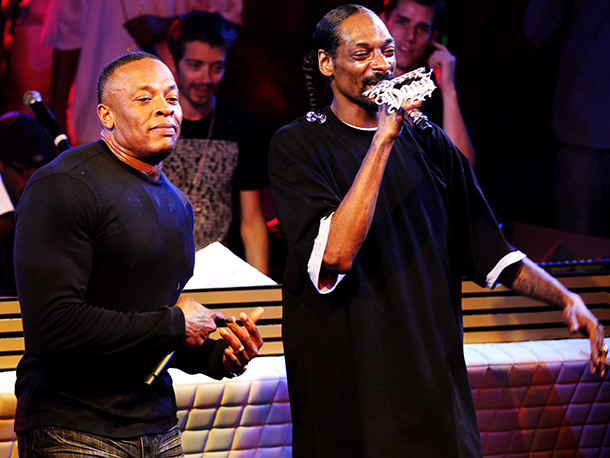 Dr. Dre, Snoop Dogg | As we eagerly await Dre's forever-gestating Detox album, the rap legend and upmarket-headphones hawker—joined here by his chief Chronic conspirator—may actually provide the Coachella crowd…