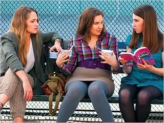 LISTEN, LADIES Jemima Kirke, Lena Dunham, Zosia Mamet in Girls