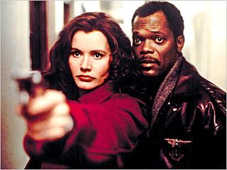 FEROCIOUS FUN Geena Davis and Samuel L. Jackson in The Long Kiss Goodnight