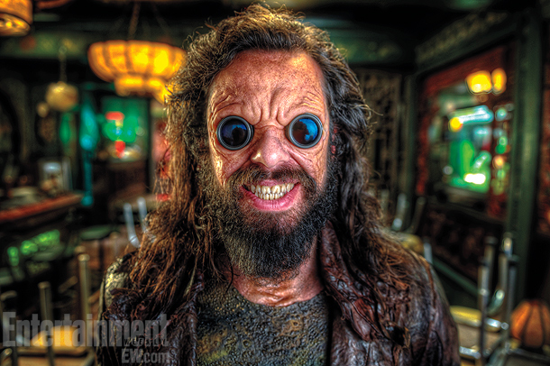 Men in Black   Jemaine Clement's alien baddie has a Hell's Angels look with goggles embedded in his face.