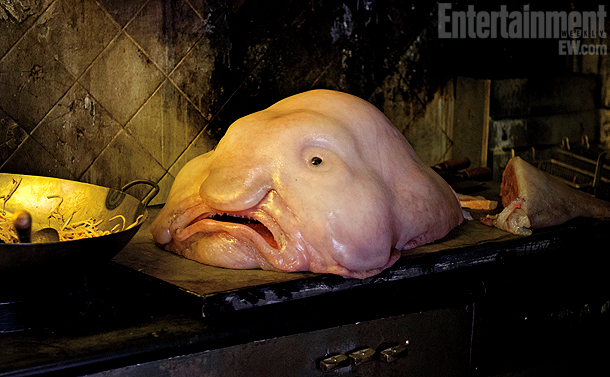Men in Black   This slimy lump of an alien is closely modeled on an actual deep-sea creature called a blobfish.
