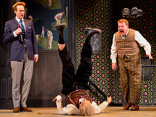 ONE MAN, TWO GUVNORS Oliver Chris, Tom Edden, and James Corden