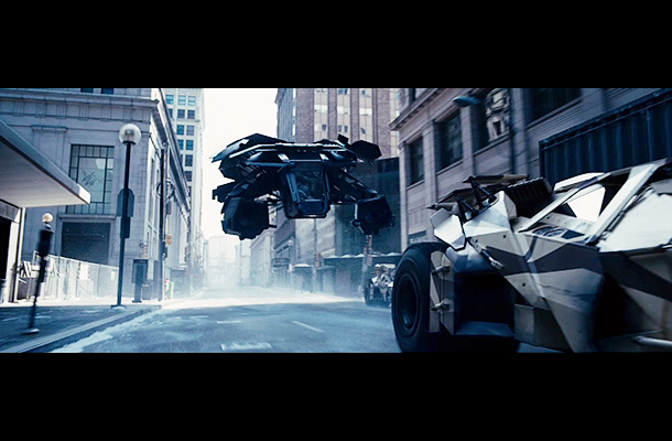 The Dark Knight Rises   We'd gotten some intriguing peeks at Batman's new flying machine in an earlier trailer. (Let's call it the Bat-Plane, although presumably it has a more…