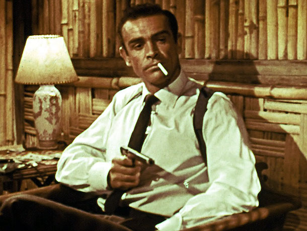 Sean Connery, James Bond, ...   The first. The original. The best. The moment he puts down his cigarette lighter and deadpans, ''Bond, James Bond,'' in 1962's Dr. No , it's…