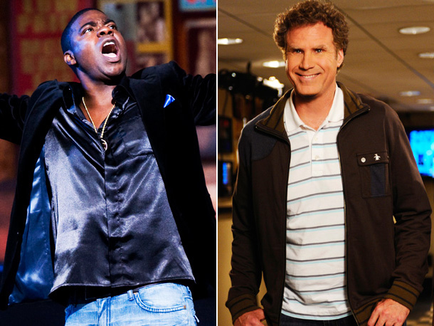 "Tracy Morgan, Will Ferrell, ... | Will Ferrell returns to host Saturday Night Live for the third time (11:30 p.m., NBC), and if a 2011 EW.com reader poll naming ""Celebrity Jeopardy!""…"