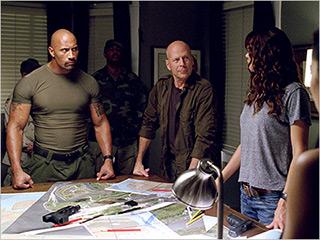DOUBLE TEAM Dwayne Johnson and Bruce Willis prepare for battle in G.I. Joe: Retaliation