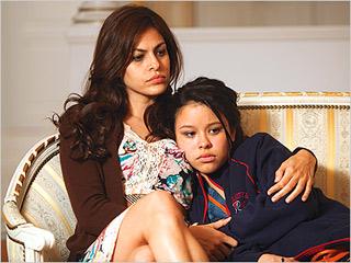 ACTING OUT Eva Mendes and Cierra Ramirez in Girl in Progress