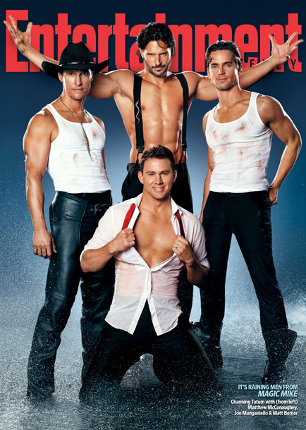 Matthew Bomer, Channing Tatum, ... | For inside dish on the male stripper film from its stars, buy the May 25 issue of Entertainment Weekly mag .