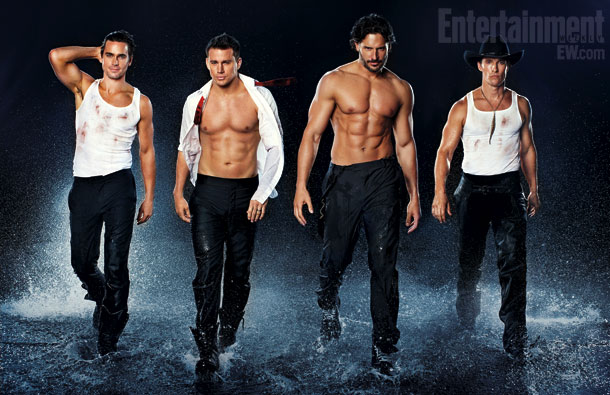Magic Mike's Matt Bomer, Channing Tatum, Joe Manganiello, and Matthew McConaughey