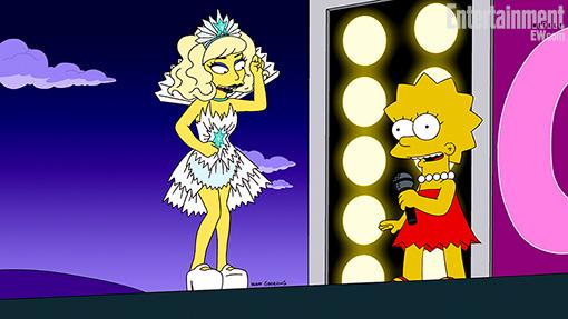 Simpsons Lady Gaga
