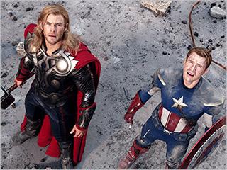 The Avengers | HERO WORSHIP Chris Hemsworth (Thor) and Chris Evans (Captain America) in The Avengers
