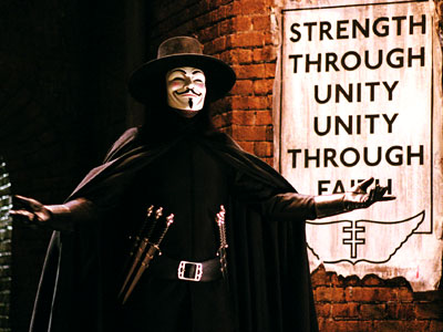 Hugo Weaving, V for Vendetta | Another flick based on an Alan Moore text makes the list, this one an adaptation of the DC Comics limited series (illustrated by David Lloyd)…