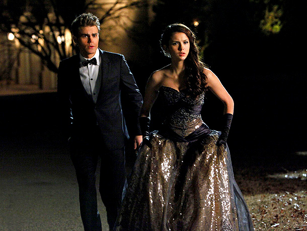 Nina Dobrev, The Vampire Diaries | EW: Is it possible to make Nina Dobrev look bad? Probably not. But a glamorous, shimmering gown never hurts — as evidenced by this romantic…