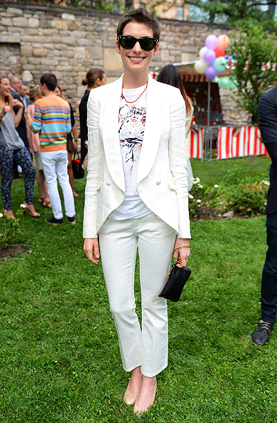 Anne Hathaway at the Stella McCartney Spring 2012 presentation dinner in New York City