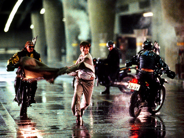 Black Rain | Andy Garcia's detective loses his head to a group of Yakuza motorcyclists as his partner (Michael Douglas) watches in the dramatic fulcrum of Black Rain…