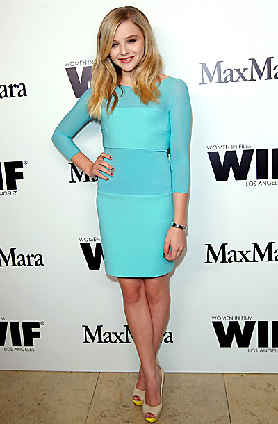 Chloe Moretz at the Max Mara party honoring the 2012 Women in Film Face of the Future in Los Angeles