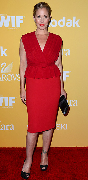 Christina Applegate in Max Mara at the Women in Film Crystal + Lucy Awards in Los Angeles