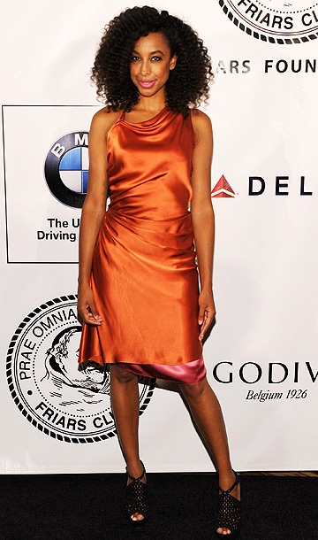 Corinne Bailey Rae in Sophie Theallet at the Friars Club and Friars Foundation Honor of Tom Cruise