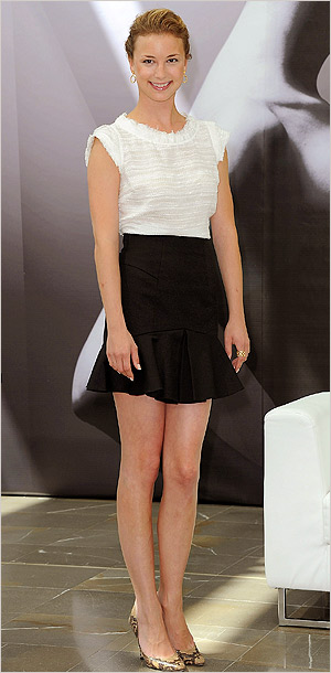 Emily VanCamp at the 52nd annual Monte Carlo Television Festival