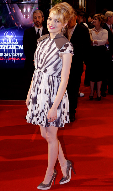 Emma Stone in Fendi at the the premiere of The Amazing Spider-Man in Seoul