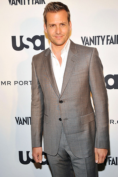 Gabriel Macht at the USA Network's A Suits Story fashion show in New York City